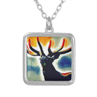 Colour Points Silver Plated Necklace