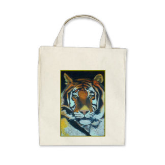 COLOUR SAVE THE TIGER Organic Grocery Tote Bag