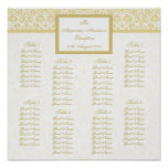 Colour Select Damask Seating Arrangement Chart