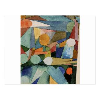 Colour Shapes by Paul Klee Postcard
