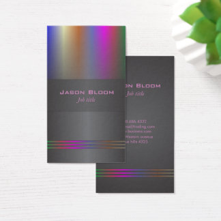 Colour spectrum deejay business card