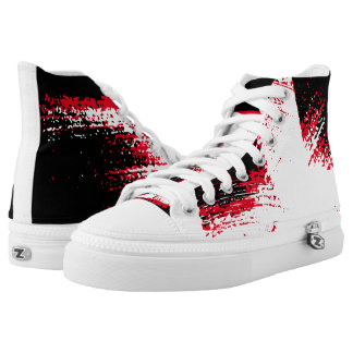 Colour Splash Red/White/Black High Top Sneakers