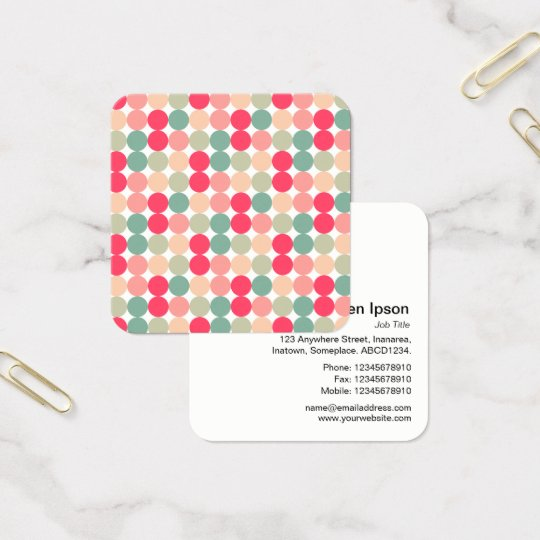 Colour Spot Pattern 01 Square Business Card