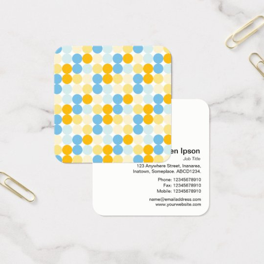 Colour Spot Pattern 02 Square Business Card