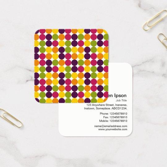 Colour Spot Pattern 03 Square Business Card
