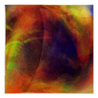 Colour Storm Abstract Contemporary Poster