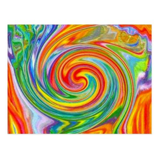 Colour Swirl Postcard