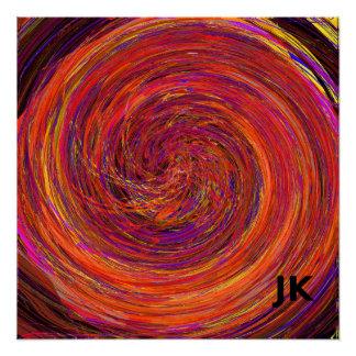 Colour Swirl Poster