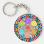 Colour Therapy Graphics : Healing Energy Chakra Basic Round Button Key Ring