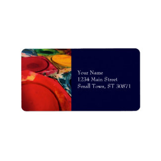 Colour Tusche Indian Ink Paint Boxes Watercolor Address Label