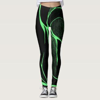 Colour Twist (Green/Black) Leggings