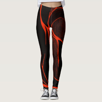 Colour Twist (Red/Black) Leggings