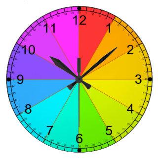 Colour wheel and time teaching clock