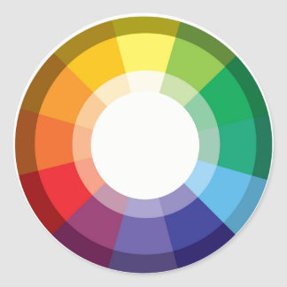 Colour Wheel Classic Round Sticker