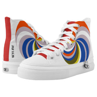 Colour wheel High Tops Printed Shoes