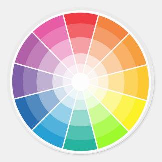 Colour wheel light classic round sticker