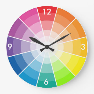 Colour wheel light large clock