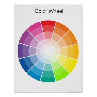 Colour Wheel - light Poster