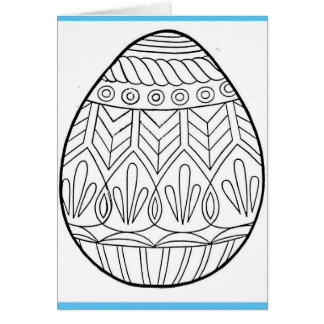 Colour your own easter card