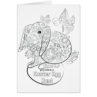 Colour your own easter egg invite card