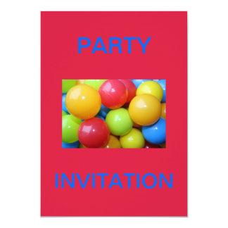 Coloured Balls Party Invitation