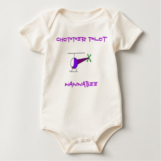 COLOURED CHOPPER, CHOPPER PILOT, WANNABEE BABY BODYSUIT