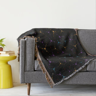 Coloured Cosmic Web Throw Blanket