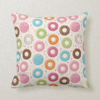 Coloured Donuts Pattern Cushion
