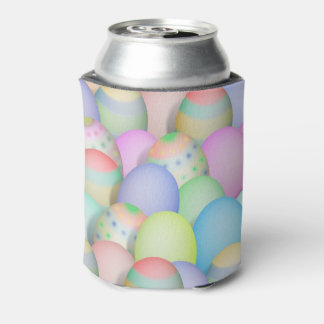 Coloured Easter Eggs Background Can Cooler