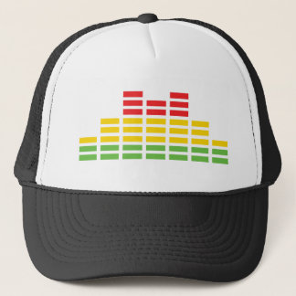 coloured equalizer icon trucker hat