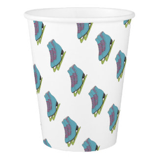 Coloured Figure Skates Birthday Party Supplies Paper Cup