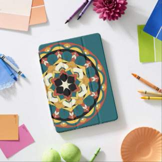 Coloured Floral Mandala 060517_4 iPad Pro Cover