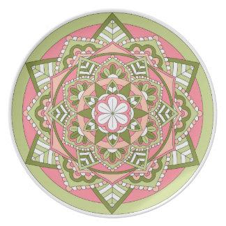 Coloured Floral Mandala 061117_1 Party Plates
