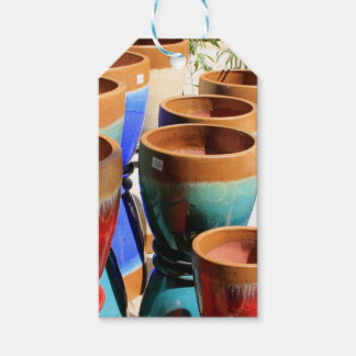 Coloured garden plant pots