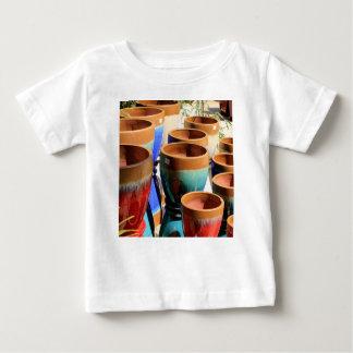 Coloured garden plant pots baby T-Shirt