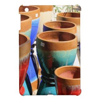 Coloured garden plant pots case for the iPad mini