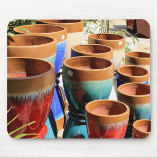 Coloured garden plant pots mouse pad