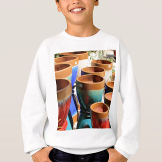 Coloured garden plant pots sweatshirt