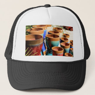 Coloured garden plant pots trucker hat