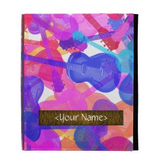 Coloured Guitar Collage iPad Folio Cover