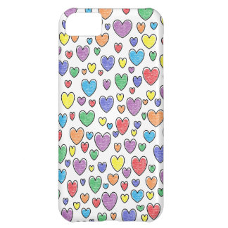 Coloured Hearts iPhone Case