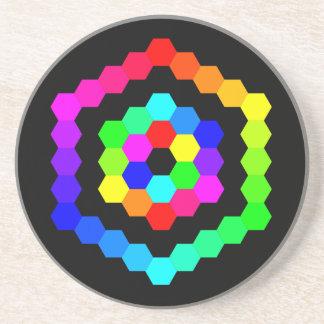 Coloured Hexagon Coaster
