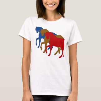 Coloured Horses in Sillouette T-Shirt