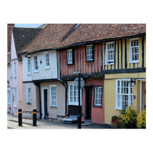 Coloured houses at Saffron Walden, Essex, UK Post Card