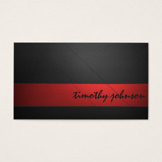 Coloured Leather Business Card