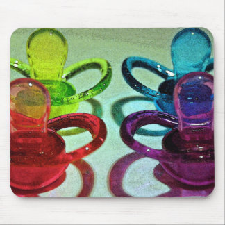 Coloured Pacifiers Mouse Pad