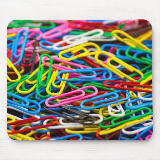 Coloured paperclips Mousemat