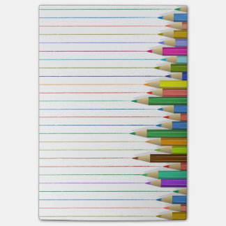 Coloured Pencil Lines Post-it® Notes