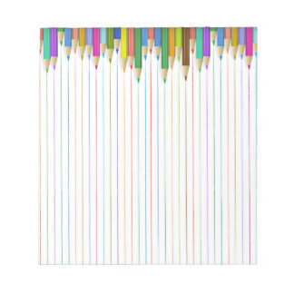 Coloured Pencil Ruled Paper Notepad