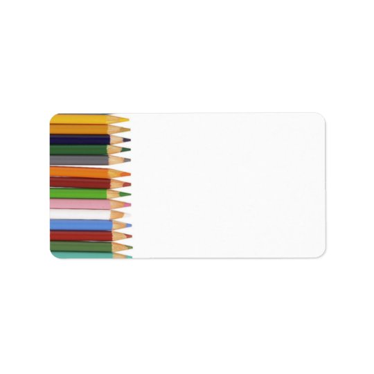 Coloured Pencils Address Labels